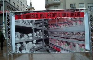 Immagine di ebrei e di galline ovaiole nei campi di concentramento