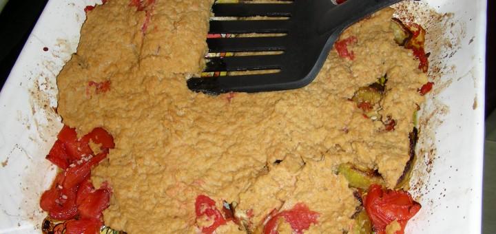 Immagine delle melanzane al forno con la salsa fontanarosa