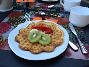 Immagine di un waffle vagano