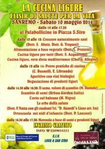 Immagine della locandina per la conferenza sulla Cucina Ligure