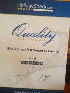 Immagine Certificato di Qualità per La Casota