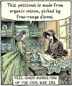 Immagine di un fumetto antischiavista