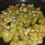 Immagine delle melanzane in padella