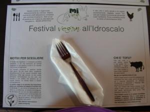 Foto della tovaglietta al ristorante