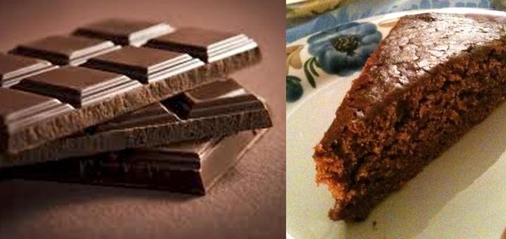 fetta di torta e cioccolato